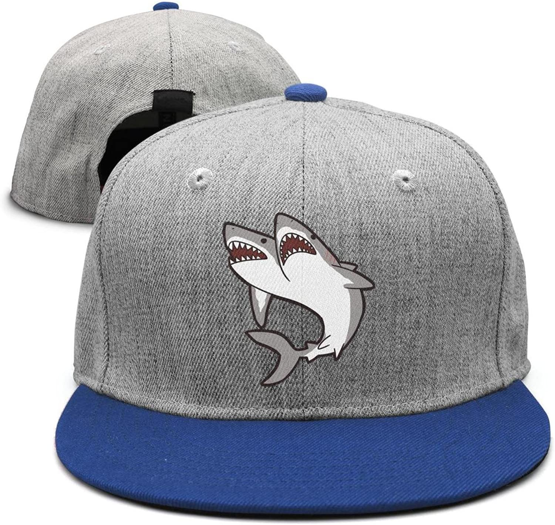 SJSNBZ Shark Eye and Teeth Stylish Womens Mens Snapback Hat