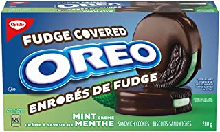 OREO Mint Chocolate Fudge Covered Cookies, 280g, Thanksgiving Cookies