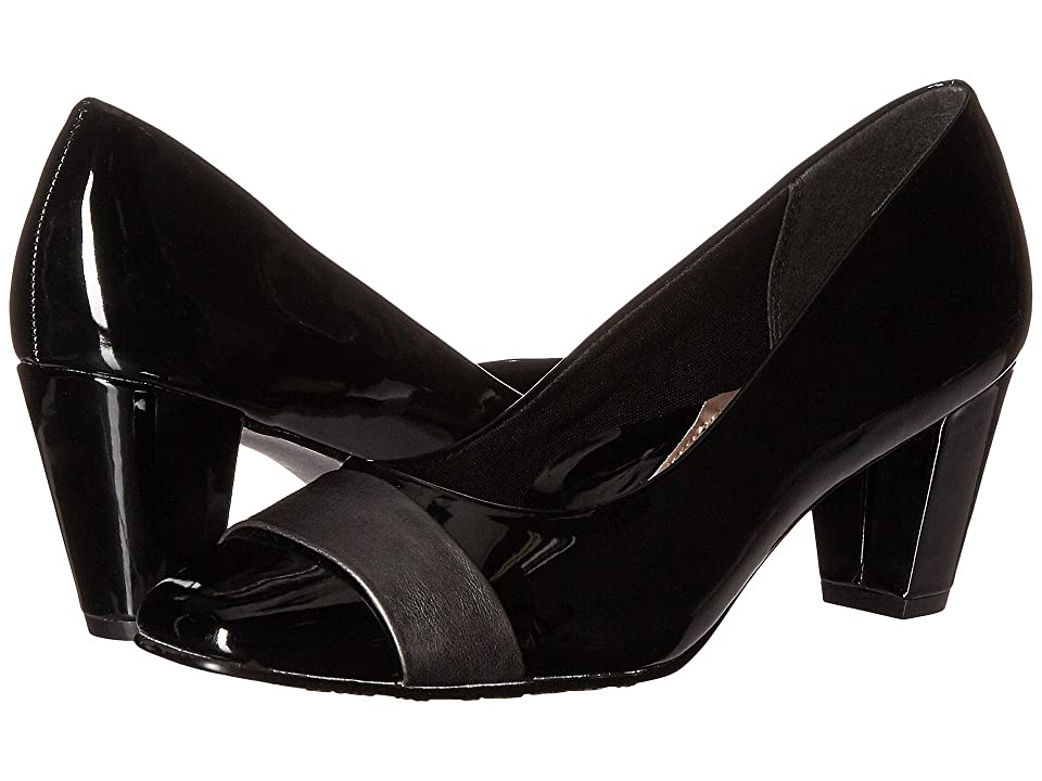 Soft Style Mabry (Black Patent/Dark Pewter Vitello) Women