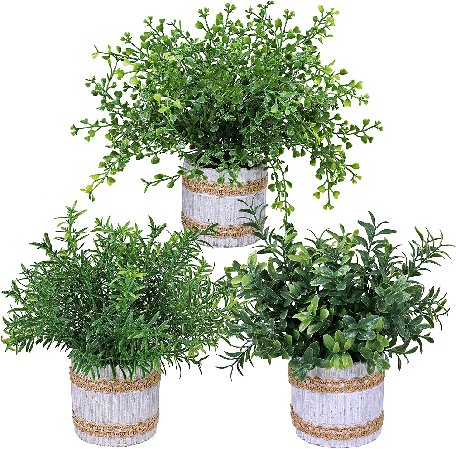 3 Pcs Artificial Plants Small Sale SALE% OFF Rosemar Potted Plastic Sales of SALE items from new works Fake