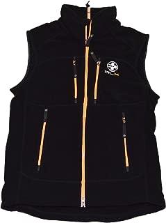 Ralph Lauren Polo RLX Mens Full Zip Fleece Vest Jacket Black Fluorescent Orange