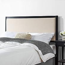 Zinus Kendal King Upholstered Fabric Headboard Bed Head Metal Frame with Foam Cushion - Cream Beige