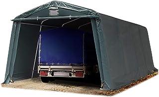 TOOLPORT Abri/Tente Garage Premium 3,3 x 6,2 m pour Voiture et Bateau - Toile PVC 500 g/m² imperméable Vert Fonce