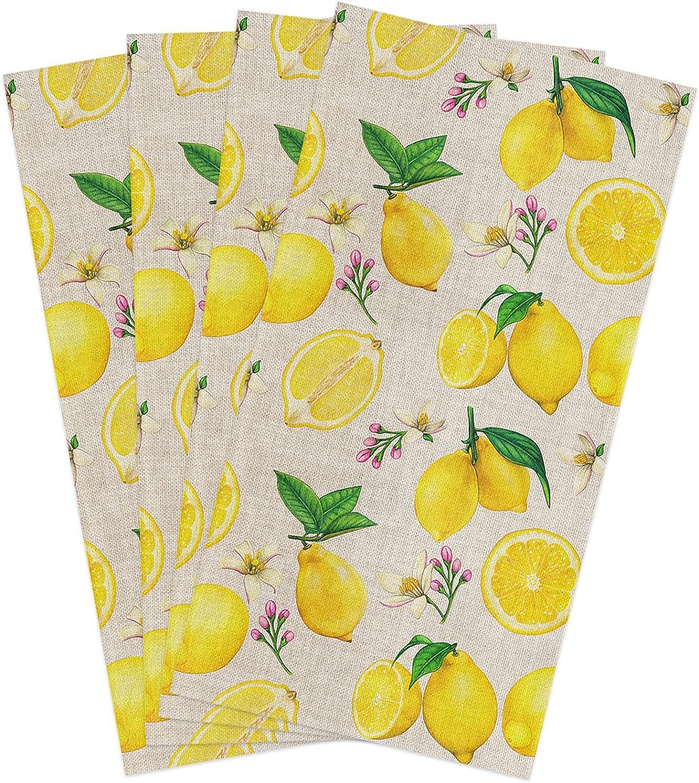 Kitchen Towels Set Floral High quality new Fruit Yellow Dish online shop Lemon Le Green Towel