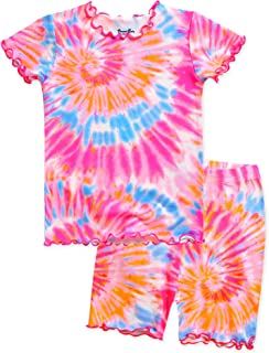 12M-12Y Toddler Kids Junior Girls Boys Tie Dye Short&Long...