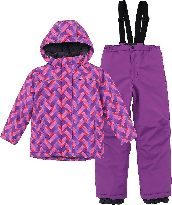 Hiheart Boys Girls Winter Ski Jacket & Pants Set 2-Piece Snowsuit