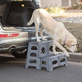 Petstep Gray Folding 2 Step Dog Assist by Range Kleen