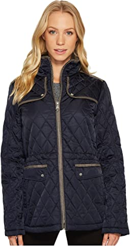 Vince Camuto - Quilted Jacket with Faux Suede Contrast Detail N8841