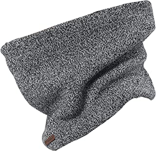 ROEFIM Neck Warmer Knit Fleece Lined Double - Layer Thick Neck Gaiter Scarf for Ski Motobike Women and Men