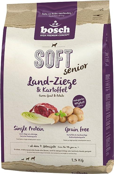 bosch HPC SOFT Senior | Cabra y Patata | comida semihúmeda para perros mayores de todas las razas y perros sensibles desde el punto de vista ...