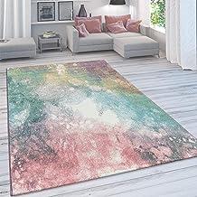 Vloerkleed Woonkamer, Modern Laagpolig In Pastelkleuren, Vintage Galaxy-Patroon, Maat:60x100 cm, Farbe:Veelkleurig 5