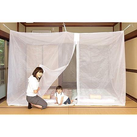 日本製 洗えるムカデ蚊帳 底付 3畳 (白)