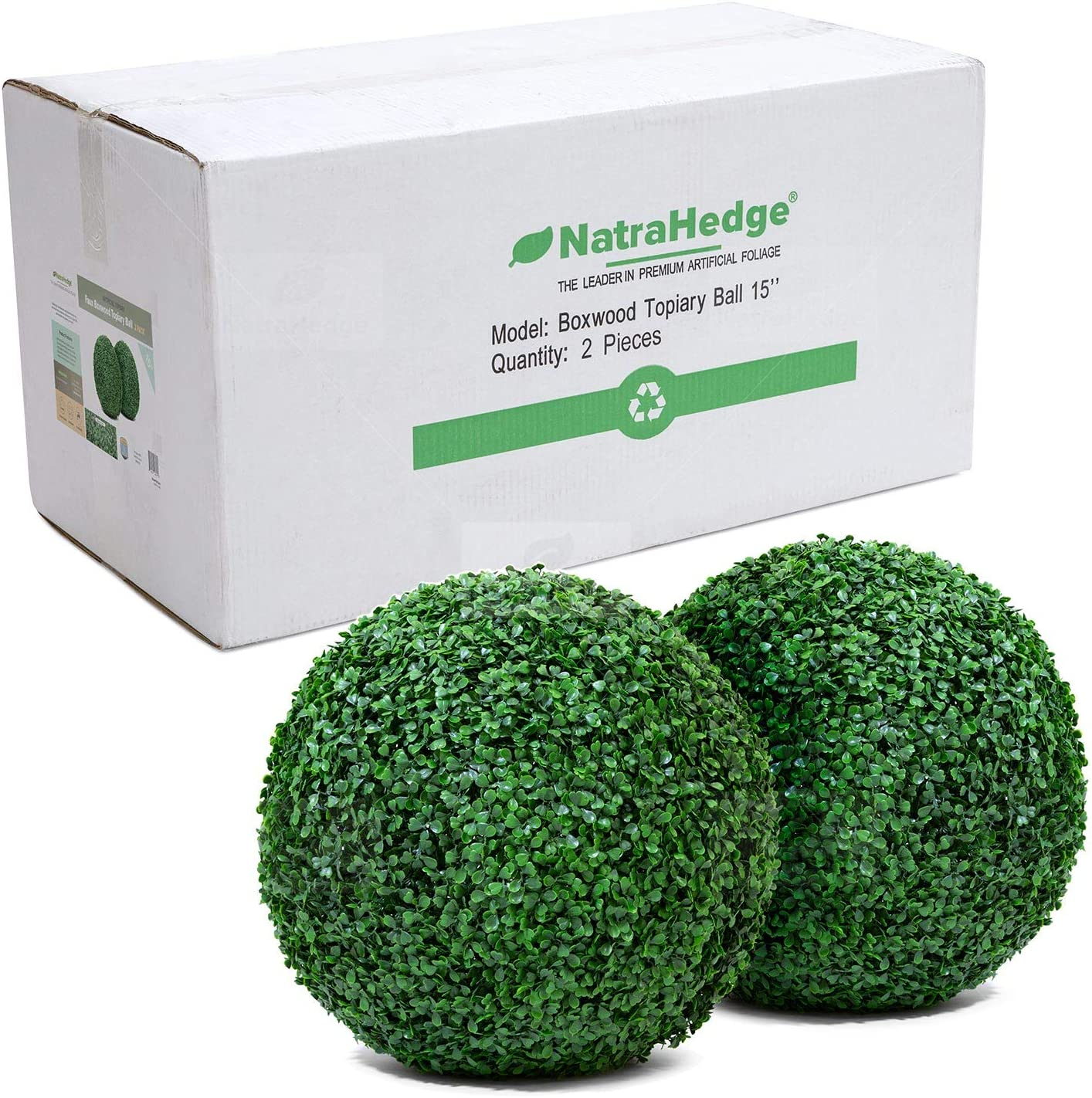NatraHedge Artificial Topiary Ball Set Faux Max 61% OFF for Popular standard Balls Foliage -