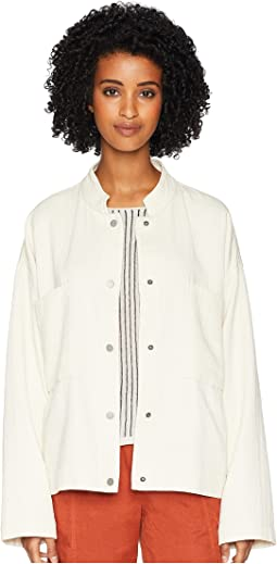 Organic Cotton Mandarin Collar Oversized Short Jacket