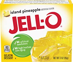 Jell-O Island Pineapple Gelatin Mix (3 oz Boxes, Pack of 6)