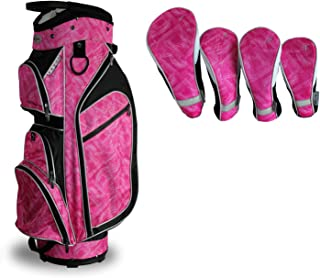 Taboo Fashions Monaco Lightweight Carry/Cart Bag Bundle with Club Covers