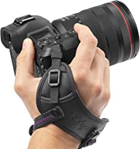 Camera Hand Strap - Rapid Fire Secure Camera Grip, Padded Camera Wrist Strap by Altura Photo for DSLR and Mirrorless Cameras - Camera Straps for Photographers Compatible W/Camera Neck Strap