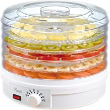 Rosewill Countertop Portable Electric Food Fruit Dehydrator Machine with Adjustable Thermostat, BPA-Free 5-Tray RHFD-15001