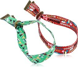 سوار ديزني ميكي ماوس اند فريندز للبالغين من جروفيز مزدوج باللون الأخضر الفاتح والأحمر متعدد الألوان