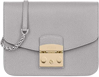 Furla Metropolis Ladies Small Grey Leather Messenger Bag 978092