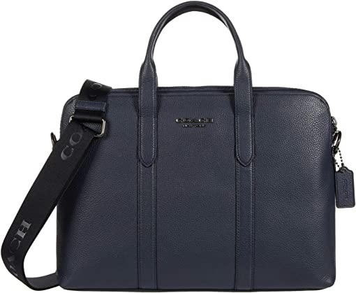 코치 메트로폴리탄 슬림 서류 가방 COACH Metropolitan Slim Brief,QB/Midnight Navy
