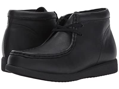 Hush Puppies Kids Bridgeport III (Little Kid/Big Kid) (Black Leather) Boy