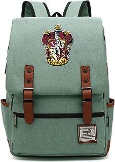 Mochila de Harry Potter Mochila Escolar de Gryffindor Mochila de Viaje para Mujeres jóvenes y niños Verde Medio