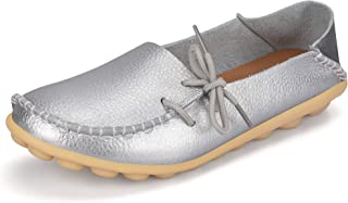Women's Soft Leather Loafers Comfort Flats Shoes Casual Driving Moccasins