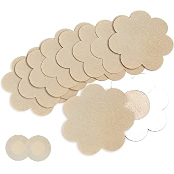 Goldfarm Nipple Breast Covers, Breast Pasties Adhesive Bra Disposable 10 Pairs