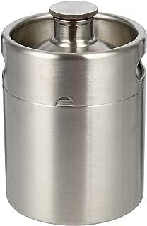 YaeBrew 2 Liter 64 oz Stainless Steel Mini Keg Growler Canteen Craft Beer Homebrewing Home Brew - 64oz Beer Growler