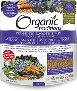ORGANIC TRADITIONS Probiotic Smoothie Mix Berry Burst, 200 GR