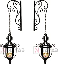 NAYAB Outdoor Candle for Festival Home Outdoor Decoration with Brackets (2 Outdoor Candle with Brackets)