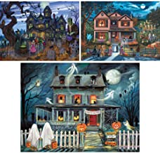 Bits and Pieces - Value Set of 3 300 Piece Jigsaw Puzzles for Adults - Each Puzzle Measures 18 Inch x 24 inch - 300 pc Goblins and Goodies, Halloween, Enter If You Dare Jigsaws by Multiple Artist