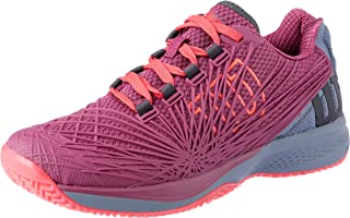 WILSON Women's KAOS 2.0 Tennis Shoe Women's Tennis Shoe, Plum/Flint Stone/neon Red