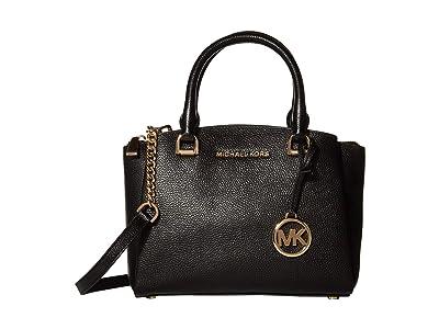 MICHAEL Michael Kors Maxine Small Messenger (Black) Messenger Bags
