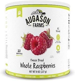 Augason Farms Freeze Dried Whole Raspberries 8 oz No. 10 Can