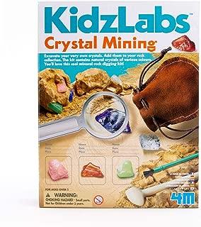 4M Kidzlabs Crystal Mining Kit - DIY Geology Science Dig Excavate Gemstones Minerals - STEM Toys Gift for Kids & Teens, Boys & Girls