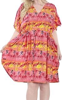 LA LEELA Damen Kimono Kaftan Palme Cover Up Sommerkleid
