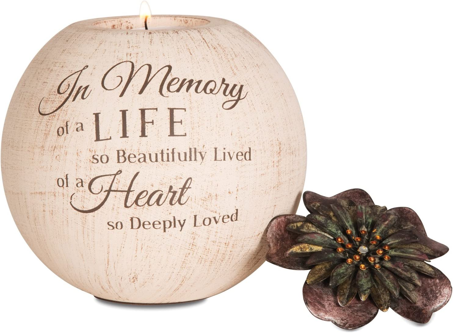 Pavilion Gift Company Nippon regular agency in Memory 5 unisex Inch Beige Candle Holder