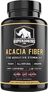 Sponsored Ad - IBS Friendly, Organic Acacia Senegal Fiber Capsules 300 Pack. Natural Soluble Fiber Supplement Pill Promote...