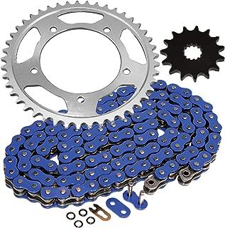 Caltric Blue O-Ring Drive Chain & Sprockets Kit Fits SUZUKI 600 GSX-R600 GSXR600 2001-2005