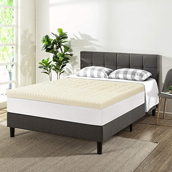 Best Price Mattress Queen 3 Inch 5 Zone Memory Foam Bed Topper With Copper Infused