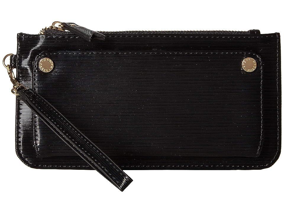 Steve Madden Patent Wristlet (Black) Wallet Handbags