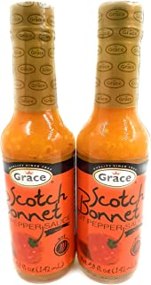 Grace Scotch Bonnet Pepper Hot Sauce - Great As A Condiment As Well As Flavoring For Dishes & Soup, and more - 4.8 oz (2 u...
