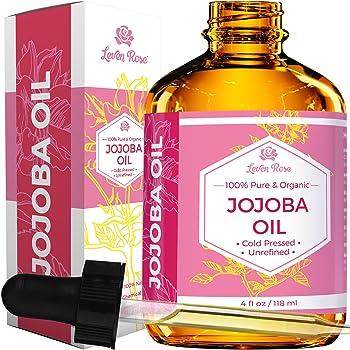 Leven Rose Organic Cold Pressed Unrefined Natural Jojoba Oil