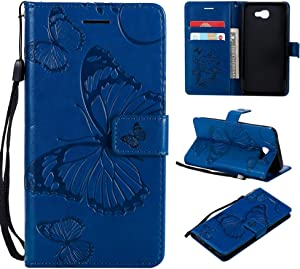 Galaxy Prime On Case Cover  Bravoday  High Quality Leather   Card ID Holder   Wallet Flip Case   Drop Proof  for Galaxy Prime On Case -Blue
