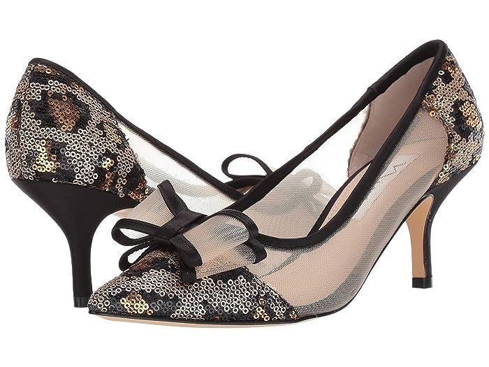 Nina  Bianca (Gold/Black) Womens 1-2 inch heel Shoes