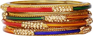 JD'Z COLLECTION Indian Bollywood Bangles Jewelry Wedding Wear Partywear Glass Bangle Bracelet