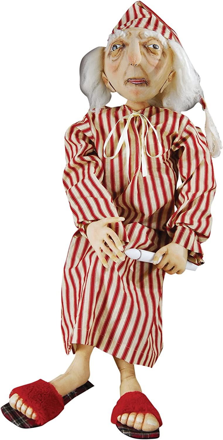 Gallerie II Gathered Traditions Ebenezer Scrooge Collectible Figurine, Red