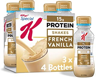 Kellogg's Special K Protein Shakes, French Vanilla, Gluten Free, 10 fl oz Bottles, 4 Count (Pack of 3)